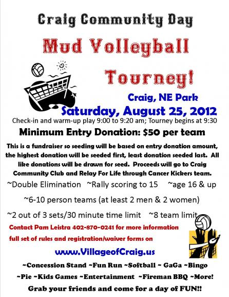 Volleyball Tournament Poster Mud Volleyball Tournament